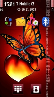 Butterfly And Heart 01 theme screenshot