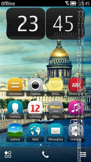 St. Petersburg Russia es el tema de pantalla