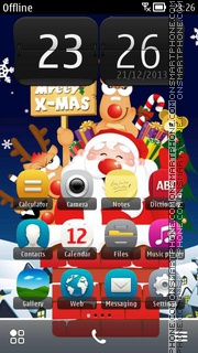 Funny Santa 01 tema screenshot
