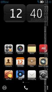 Simple Black es el tema de pantalla