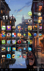 Evening in Venice theme screenshot