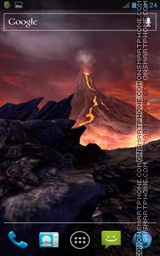 Volcano 3D Live Wallpaper theme screenshot