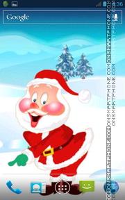 Celebrating Santa theme screenshot