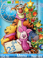 Happy Holidays (Winnie the Pooh and his friends) theme screenshot