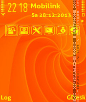 Orange swirls theme screenshot