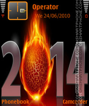 New Year Fire 2014 es el tema de pantalla
