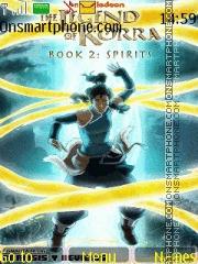 Avatar The Legend Of Korra es el tema de pantalla
