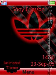 Adidas Red es el tema de pantalla