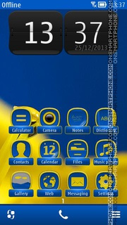 Yellow Flower 04 es el tema de pantalla