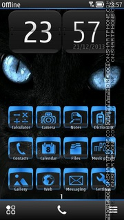 Black Cat 15 theme screenshot