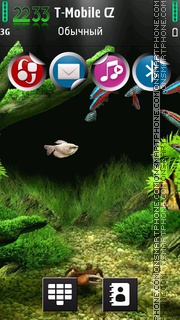 Little Aquarium es el tema de pantalla