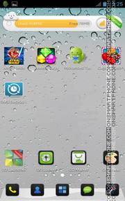 Capture d'écran iPhone 5 Grey for Android thème