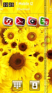 Fresh Yellow Flowers theme screenshot
