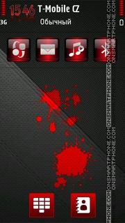 Blood Red HD theme screenshot