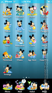 Baby Mickey Mouse theme screenshot