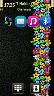 Floral Art es el tema de pantalla