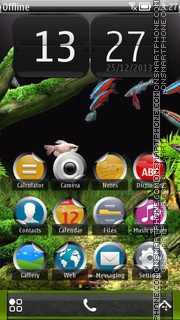 Little Aquarium 01 theme screenshot