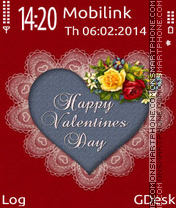 Happy valentine day es el tema de pantalla