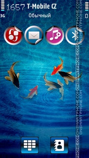Tropical Blue Fishes theme screenshot