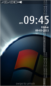 Windows Black 01 tema screenshot