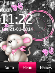 Mouse Dual Clock theme screenshot