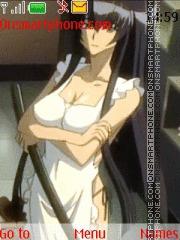 Saeko Busujima theme screenshot