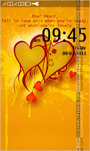 Valentine Hearts 06 theme screenshot