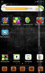 Black Android Theme 01 es el tema de pantalla