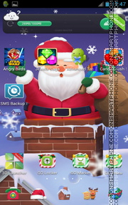 Cuddly Christmas Santa es el tema de pantalla