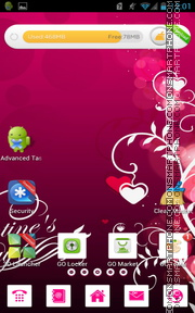 Valentines Pink Hearts es el tema de pantalla