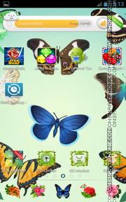Garden Butterflies es el tema de pantalla