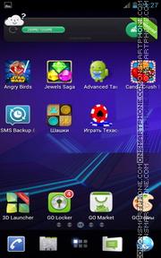 Honeycomb Pro 01 es el tema de pantalla