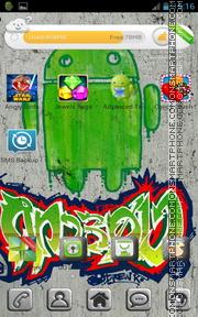 Capture d'écran Green Android 02 thème