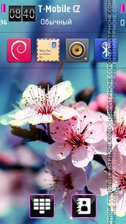 Cherry Blossom 01 theme screenshot