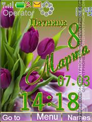 8 March es el tema de pantalla
