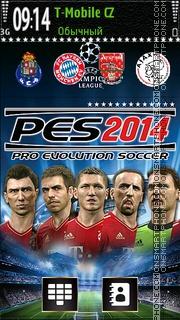 Pro Evolution Soccer 2014 es el tema de pantalla