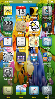 Winnie from Disney Cartoon theme screenshot