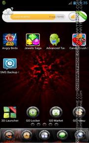 Capture d'écran Darkness Red thème