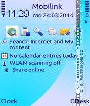 Cyan touch theme screenshot