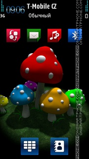 Mushroom HD Nokia theme theme screenshot