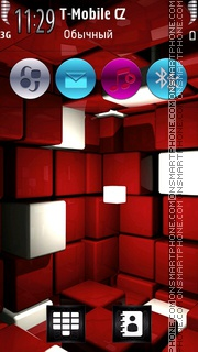 3D Red 2014 theme screenshot