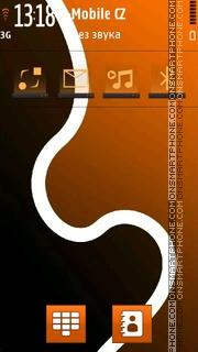 Orange Abstract 02 es el tema de pantalla