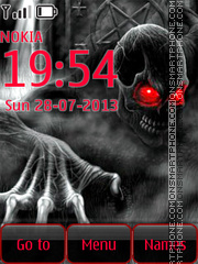 Skeleton with red Eyes theme screenshot