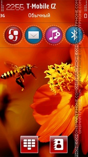 Bee and Flower es el tema de pantalla