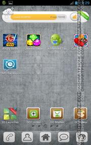 Grey Opaque GO Launcher EX Theme es el tema de pantalla