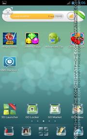 Clear Blue Premium Gp launcher tema screenshot