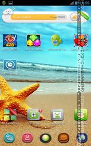Summer SeaStar es el tema de pantalla