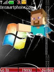Minecraft Steve es el tema de pantalla