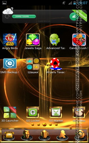 Gold Lines 01 es el tema de pantalla