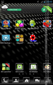 Carbon Fiber 01 tema screenshot